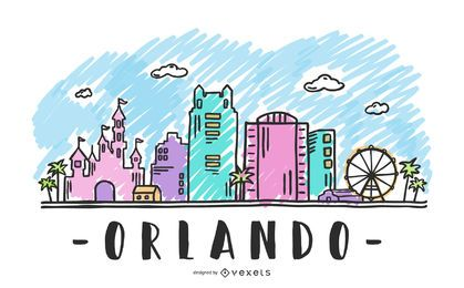 Orlando USA Skyline Design