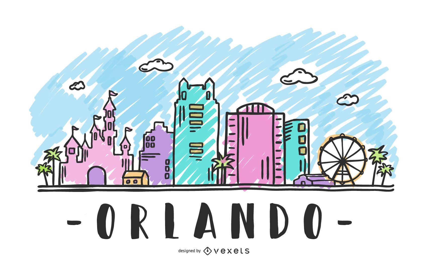 Orlando USA Skyline Design