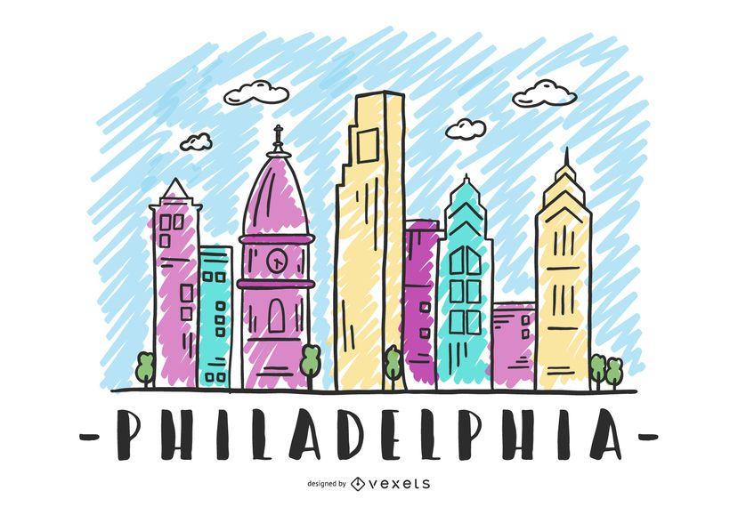 Filadélfia EUA Skyline Design