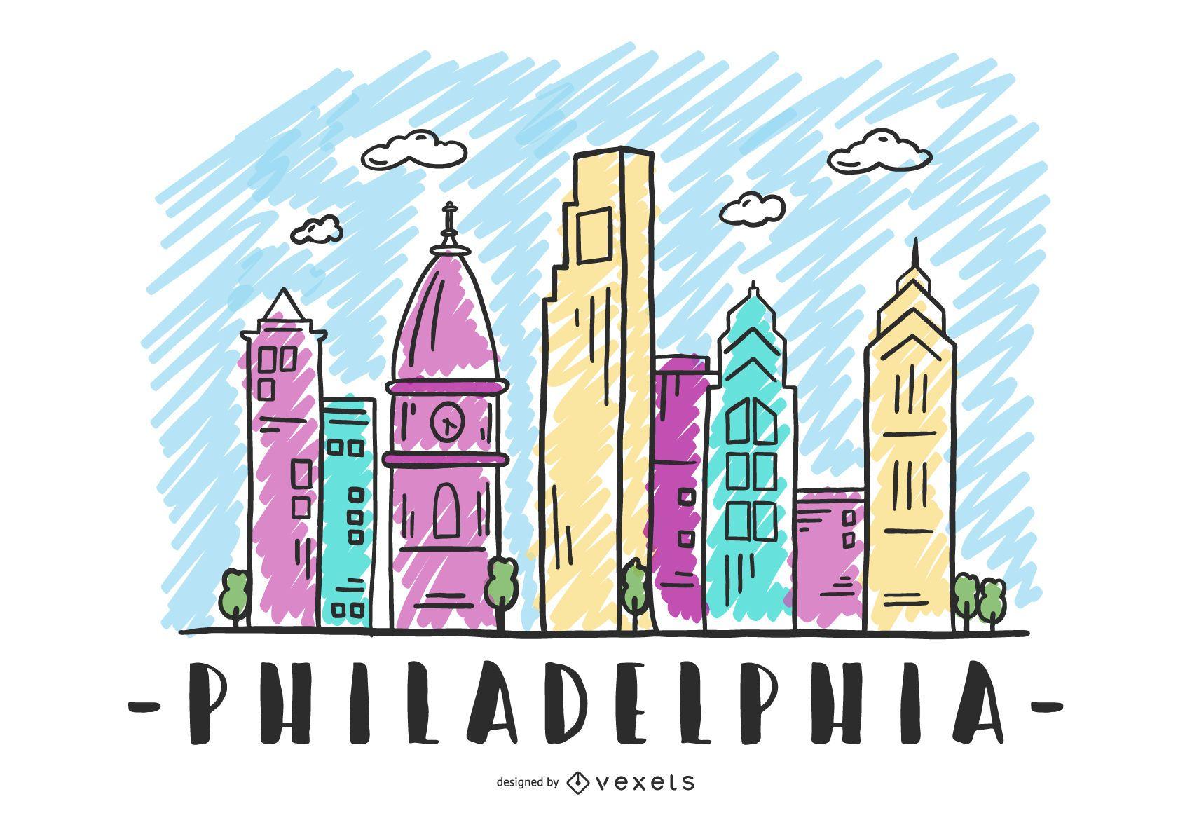 Philadelphia USA Skyline Design