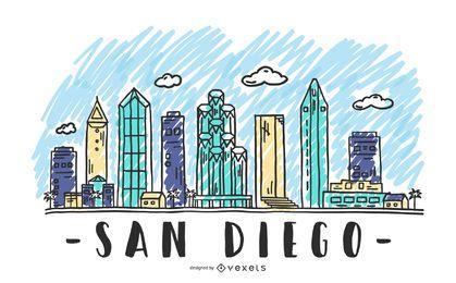 San Diego USA Skyline Design