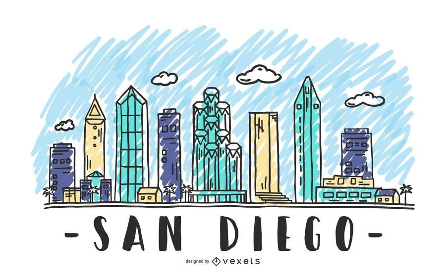 San Diego USA Skyline Design