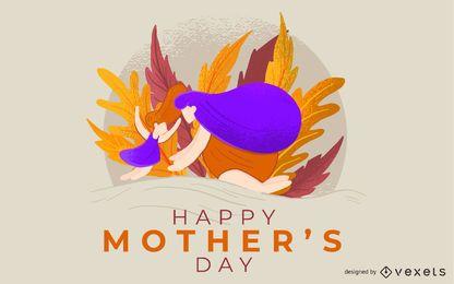 Glückliches Muttertagsillustrations-Design