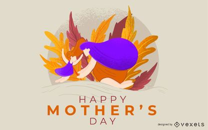 Happy Mother's Day Illustration Design