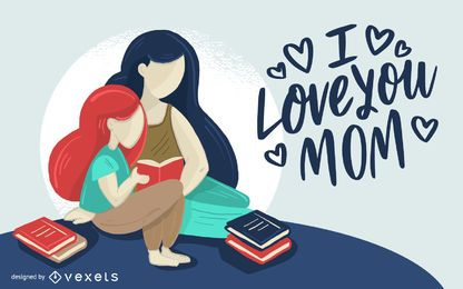 Liebe Mom Illustration Design