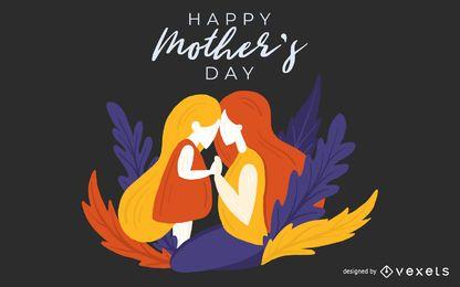 Ilustração do dia das mães