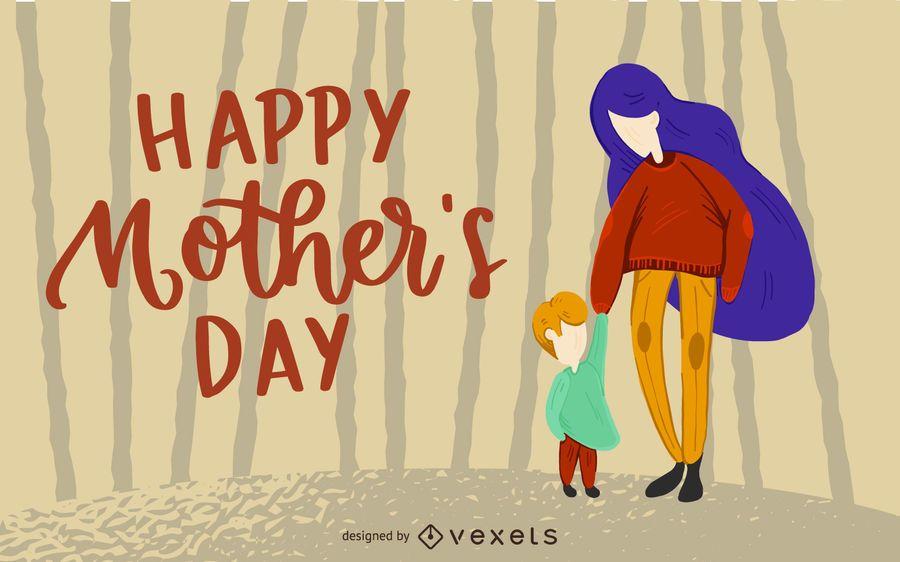 Feliz dia de la madre diseño