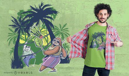 Projeto do t-shirt do Badminton