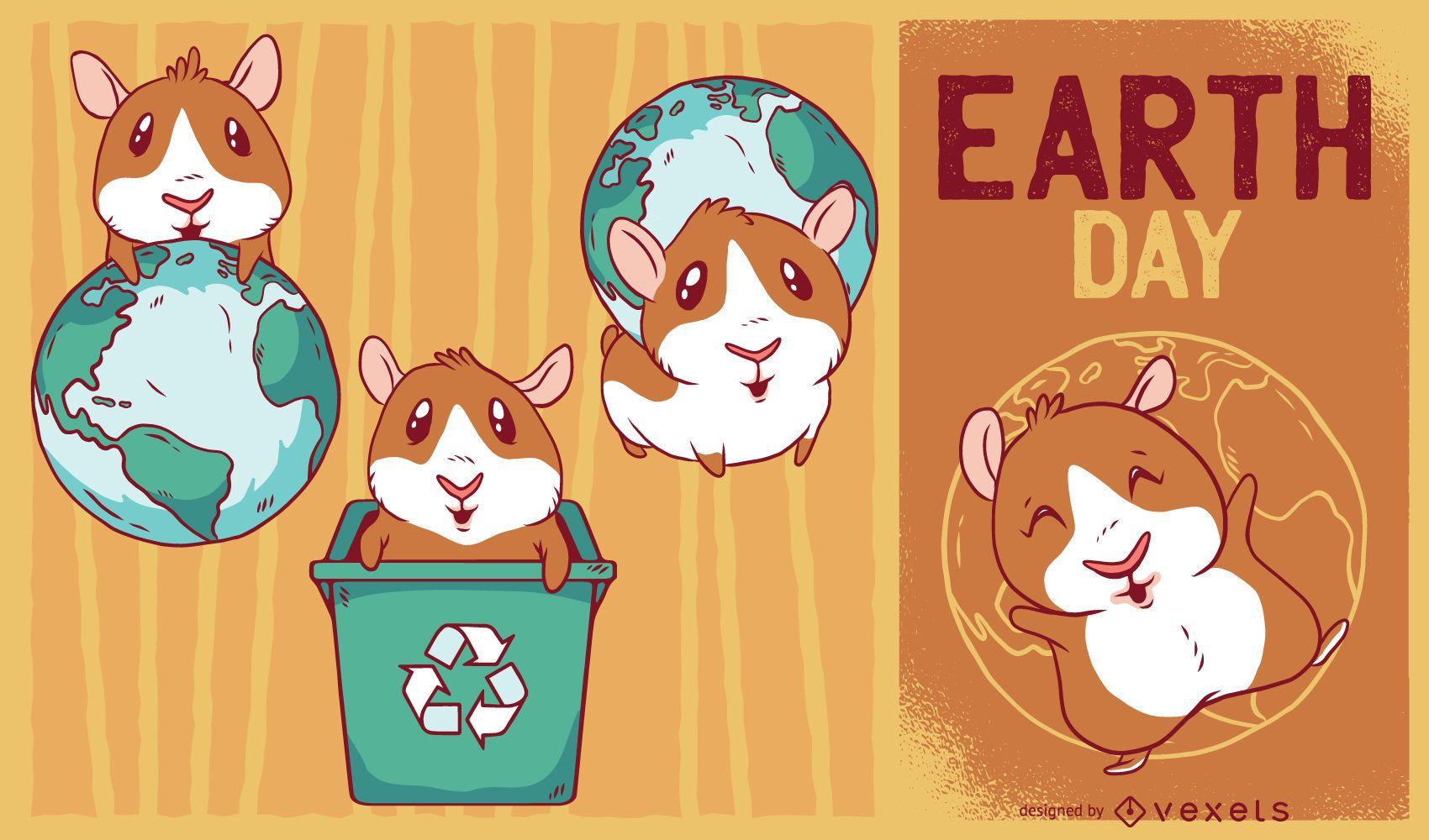 Guinea Pig Illustrations Set