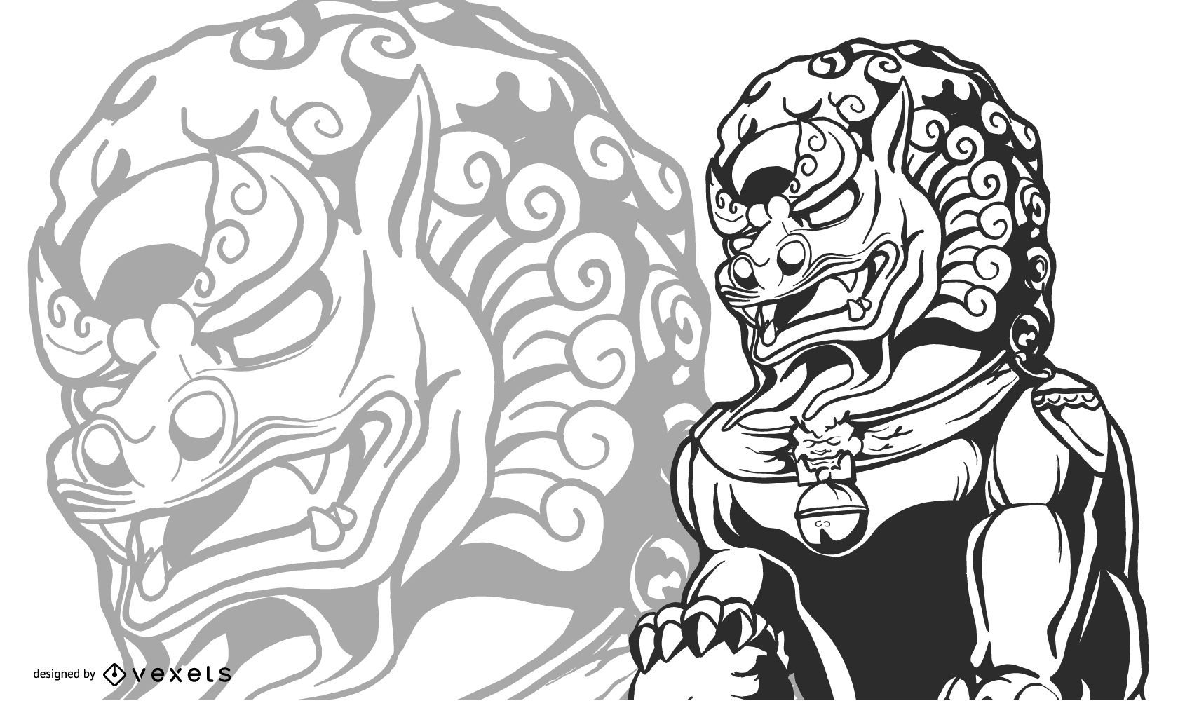 Estatua del león chino