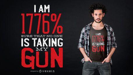 Meu design do t-shirt da arma