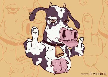 Kuh-Mittelfinger