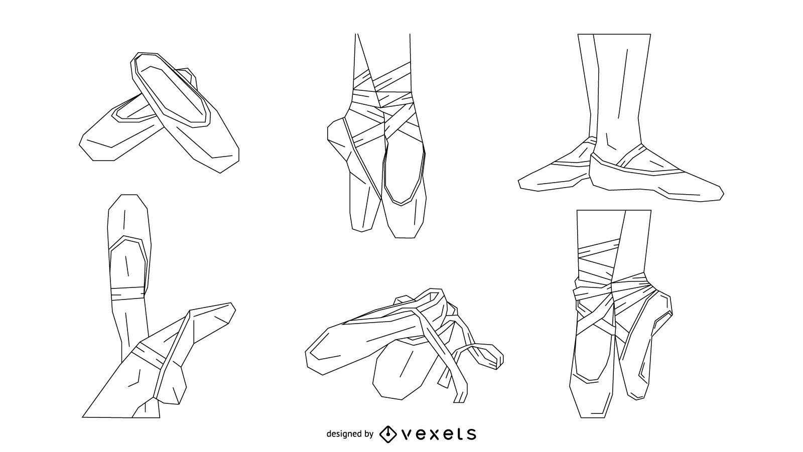 Conjunto de zapatos de ballet