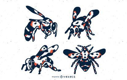 Conjunto de tonos de abeja duo