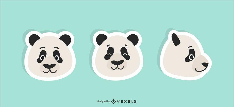Panda Sticker Set