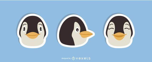 Set de pegatinas de pingüino