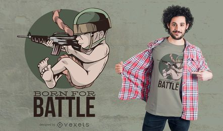 Nascido para Battle T-Shirt Design