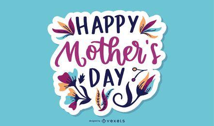 Muttertag Schriftzug Design