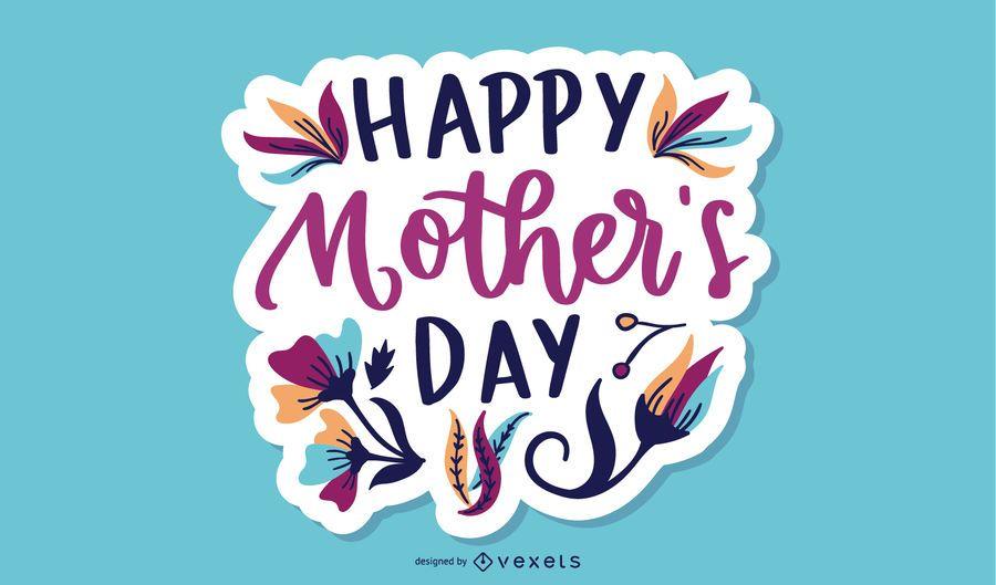 Diseño de letras del día de la madre