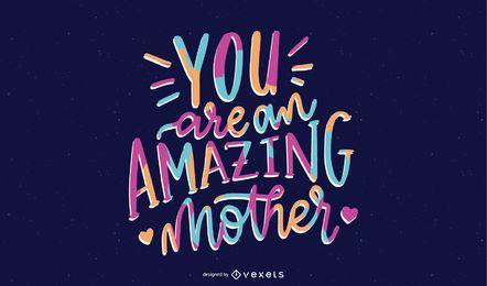 Erstaunliche Mutter-Briefgestaltung