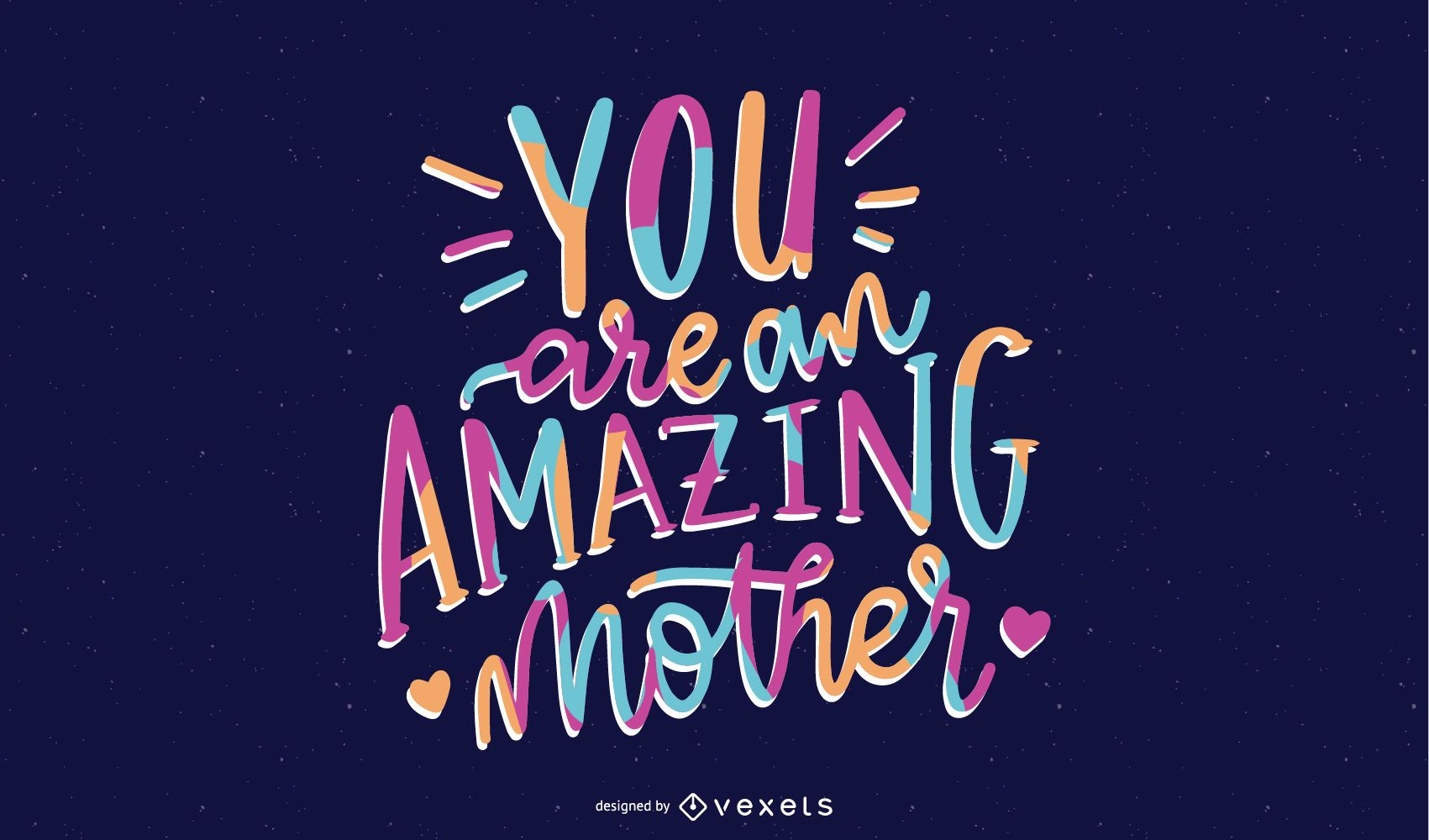 Amazing Mother Lettering Design