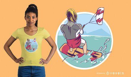 KiteSurfing T-Shirt Design