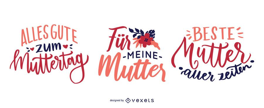 German Mother's Day Lettering Design