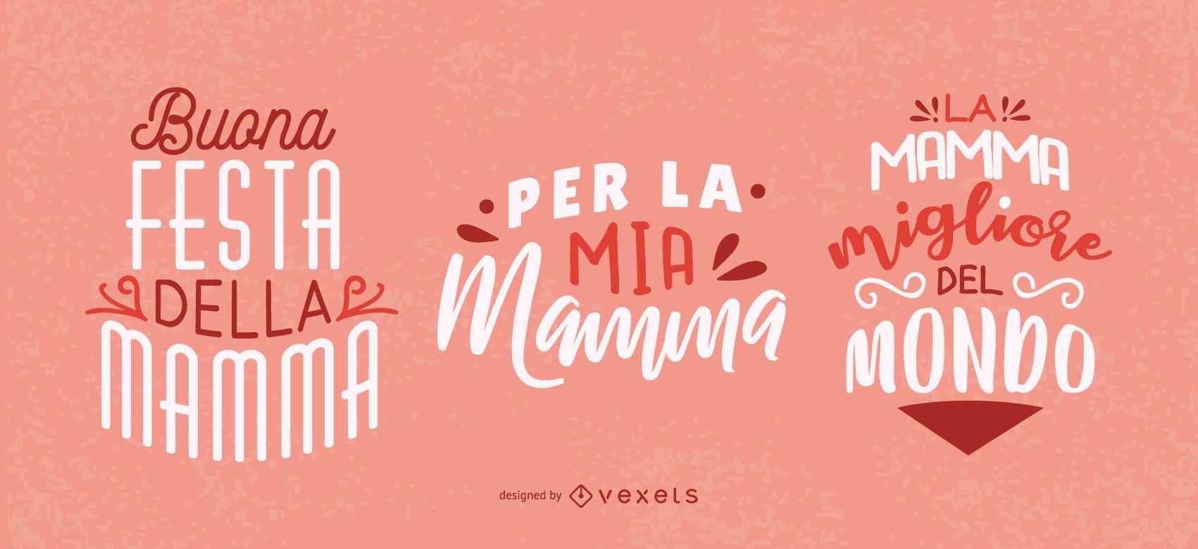 Mother's Day Italian Lettering Design
