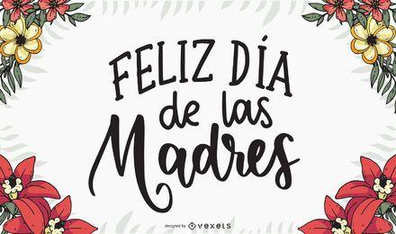 Feliz Dia de las Madres-Briefgestaltung