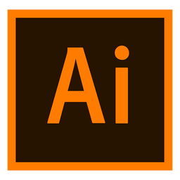 Adobe Illustrator ai icono de color