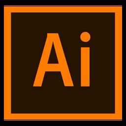 Adobe ilustrador ai colorido ícone