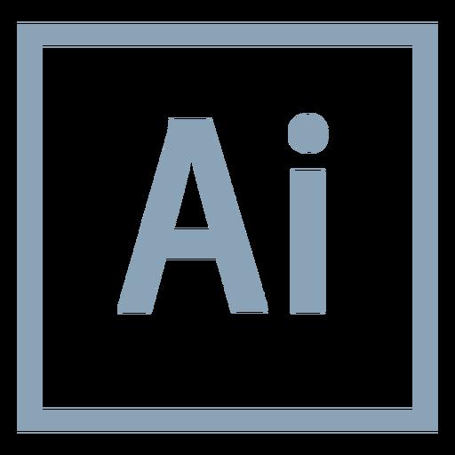 Icono de ai de Adobe Illustrator