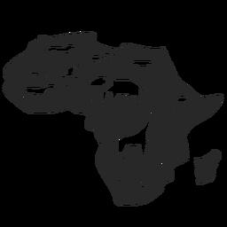 Silueta de mapa de africa