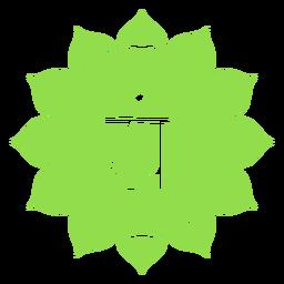 Anahata chakra icon
