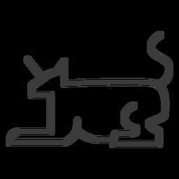 Chifre de cauda de chifre de gato animal