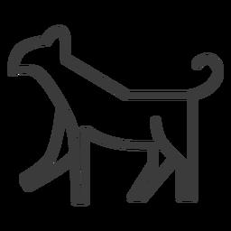 Animal perro gato divinidad trazo