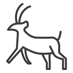 Curso de divindade de chifre de cabra animal
