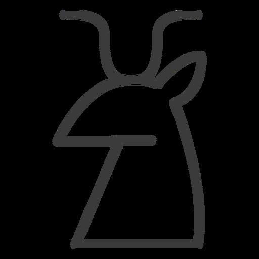Animal horn cattle cow bull deer stroke Transparent PNG