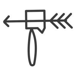 Curso da arma da ferramenta do hummer da seta
