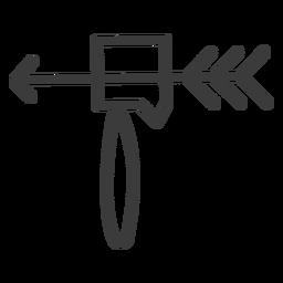 Pfeilhummer Werkzeug Waffe Schlaganfall