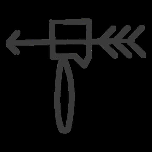 Curso da arma da ferramenta do hummer da seta Transparent PNG