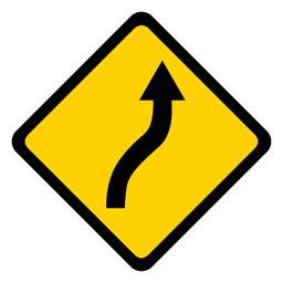 Arrow road rhomb warning flat