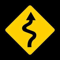 Estrada, estrada, tecendo, seção, rhomb, aviso, apartamento
