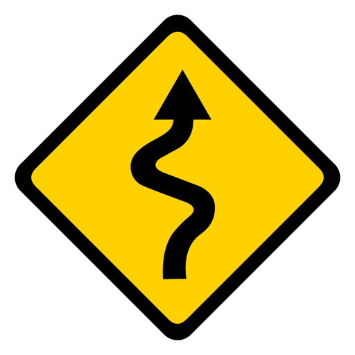 Arrow road weaving section rhomb warning flat Transparent PNG