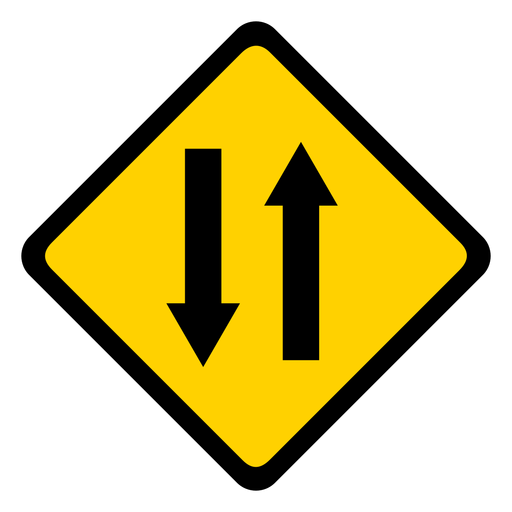 Arrow two pair direction rhomb warning flat Transparent PNG