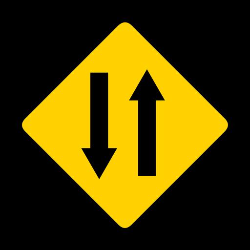Arrow two pair direction rhomb warning flat