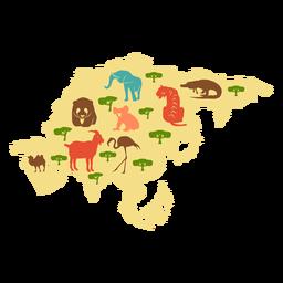Ilustração do continente de Ásia