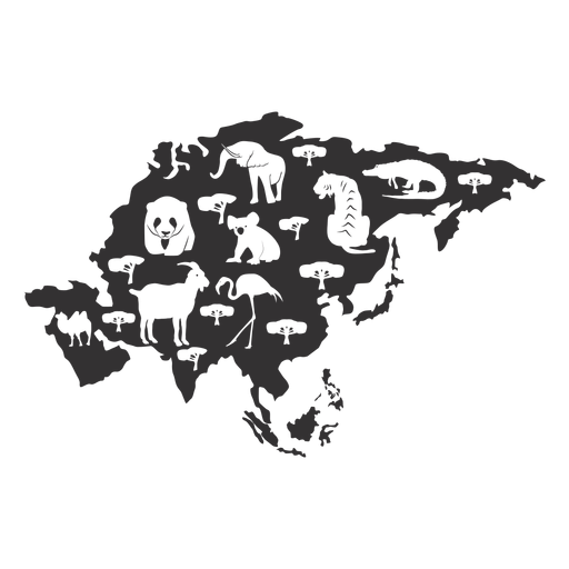 Map Of Asia Png.Asia Silhouette Map Transparent Png Svg Vector