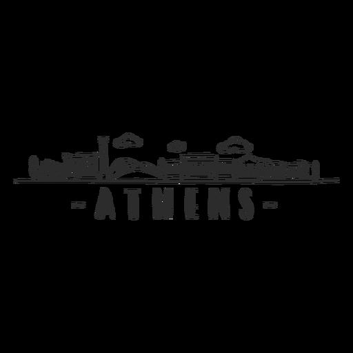 Athens arch ruin antiquity column building construction cloud skyline sticker Transparent PNG