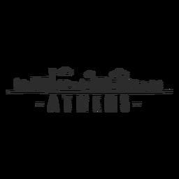 Athens skyline doodle sticker
